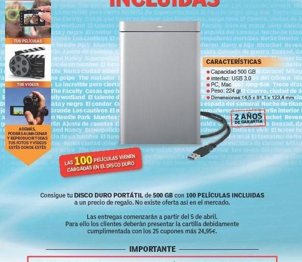 MARCA TAMBIEN APUESTA POR LOS PUNTOS DE VENTA PARA ENTREGAR EL DISCO DURO DE 24,95 EUROS