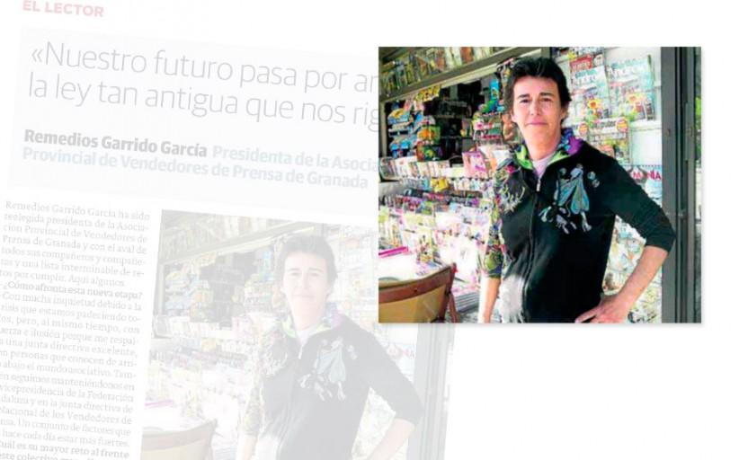 Entrevista a Remedios Garrido García Presidenta de la Asociación Provincial de Vendedores de Prensa de Granada
