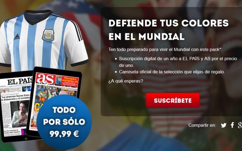Prisa regala diarios con la venta de camisetas mundialistas: un año de 'El País' y 'AS' por 30 euros