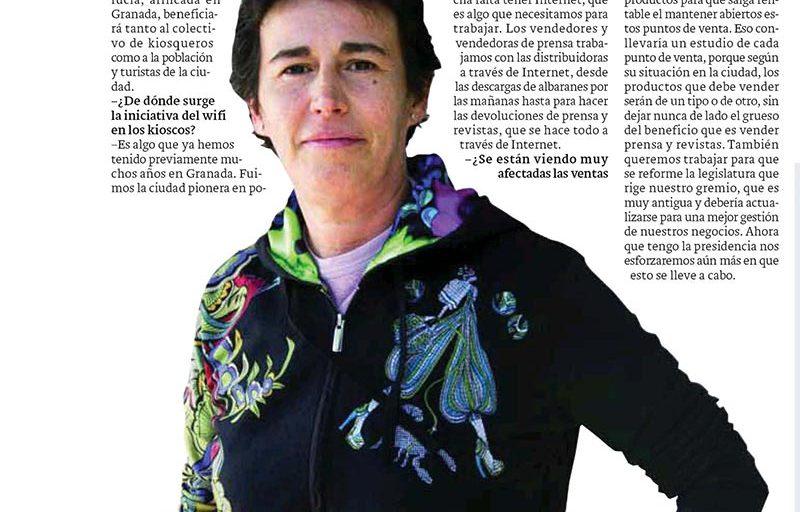 Entrevista a Remedios Garrido. Presidenta de la Federación de Vendedores de Prensa de Andalucía