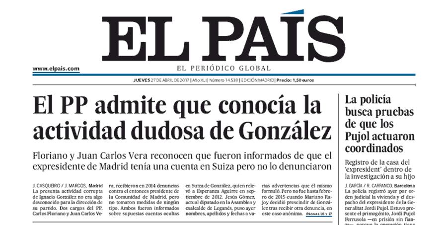 OJD marzo: 'El País' ya vende menos de 100.000 ejemplares tras perder otro 19%