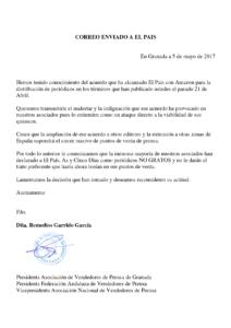"""Comunicado oficial de los quiosqueros a Prisa: """"El País"""", """"As"""" y """"Cinco Días"""" periódicos NO GRATOS"""