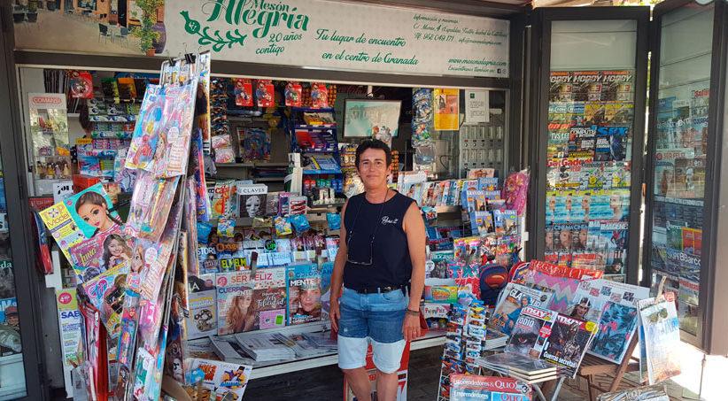 Entrevista a Remedios G. García, Presidenta de la Asociación de Vendedores de Prensa de Granada