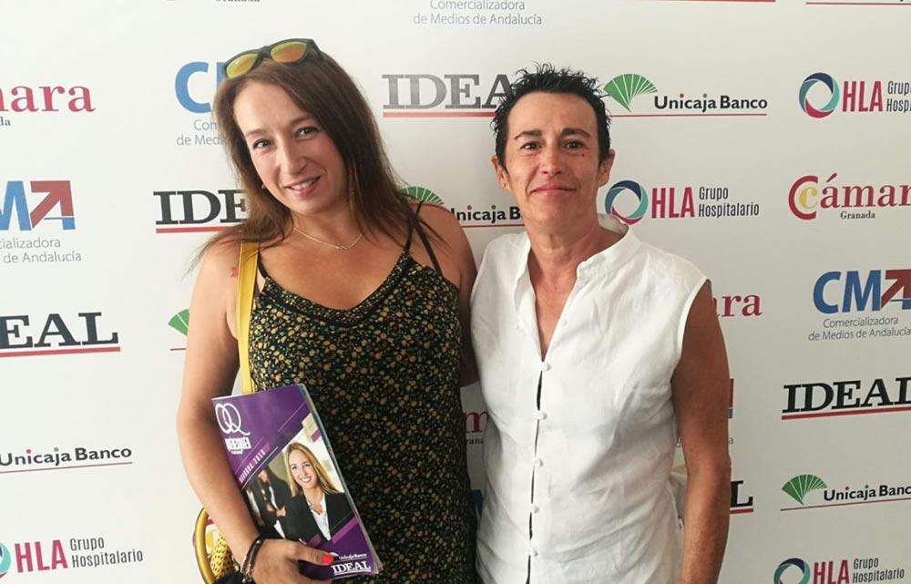 Eva Orantes CEO de Bienestar con Eva (Coaching) y Remedios Garrido Presidenta de AVPG