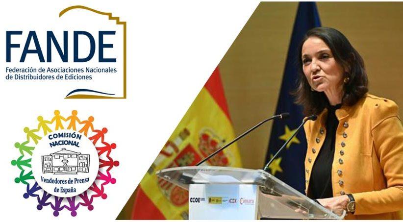 Carta de FANDE y La Comisión Nacional de Vendedores de Prensa de España a la Ministra de Industria, Comercio y Turismo
